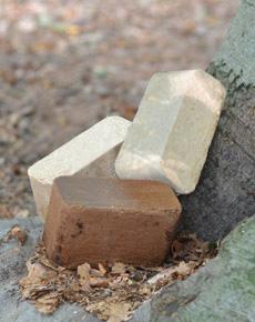 houtbriketten detail